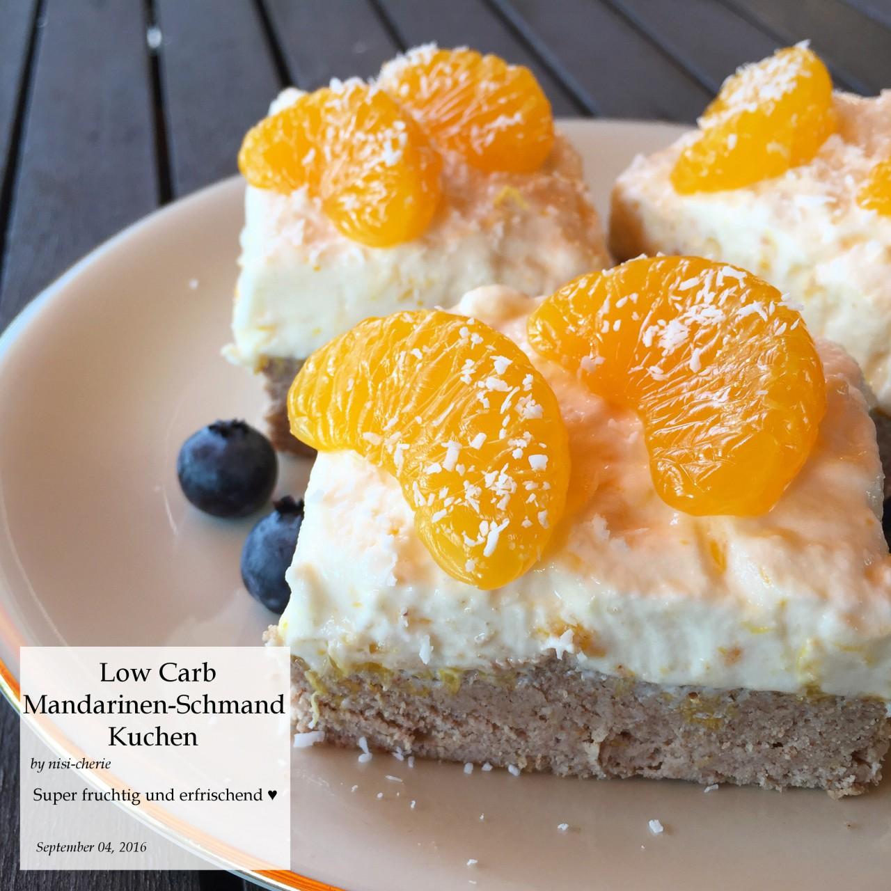 Nisi Cherie Com Low Carb Mandarinen Schmand Kuchen